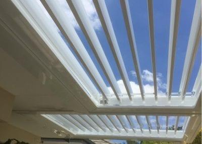 Stepped louvre roof similar to Vergola