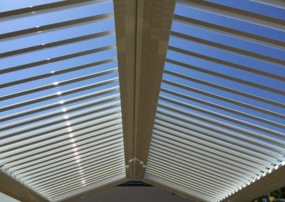 Apex roofed patio opening roof