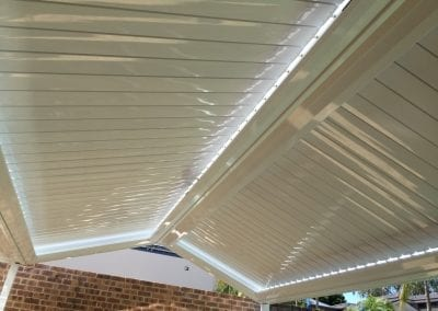 Pitched roof apex gloss white