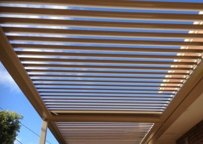 Double bank opening roof Louvre Shade Perth