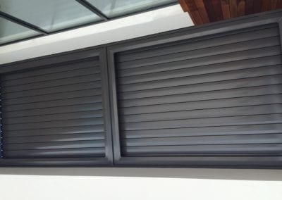 Dual bank electric louvre opening roof Floreat Woodland grey
